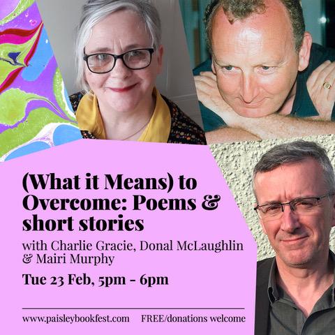 Paisley Book Festival 2021: Charlie Gracie, Mairi Murphy & Donal McLaughlin
